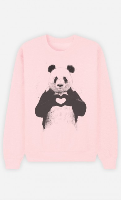Sweat Femme Love Panda