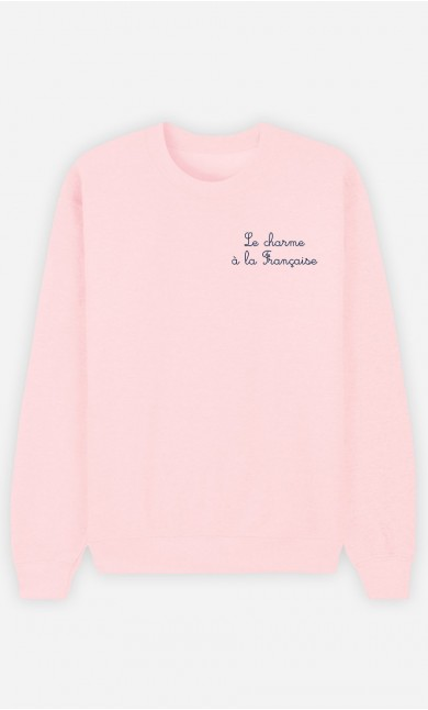 Sweat Rose Le Charme A La Française - Brodé