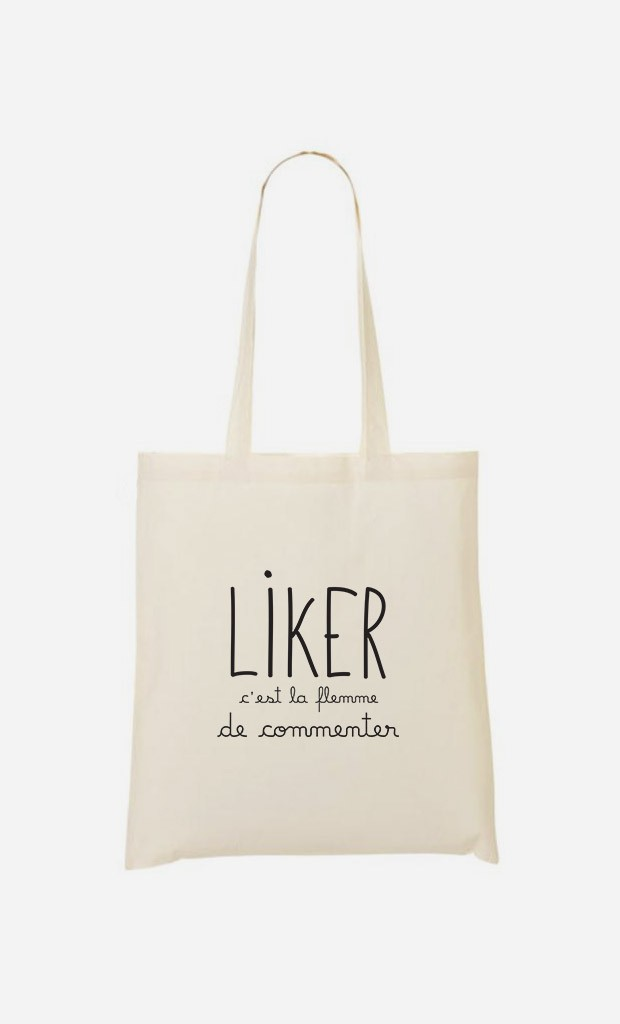 Tote Bag Liker c'est la Flemme de Commenter