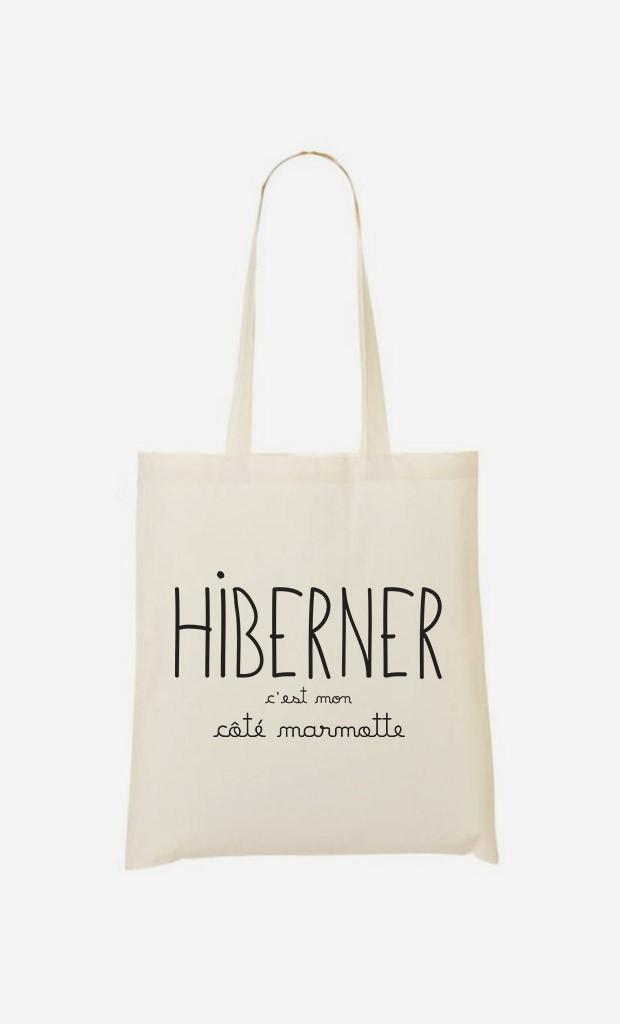 Tote Bag Hiberner c'est mon Côté Marmotte