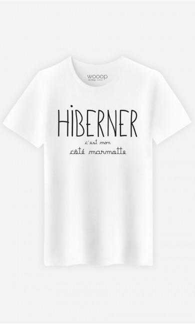 T-Shirt Homme Hiberner c'est mon Côté Marmotte