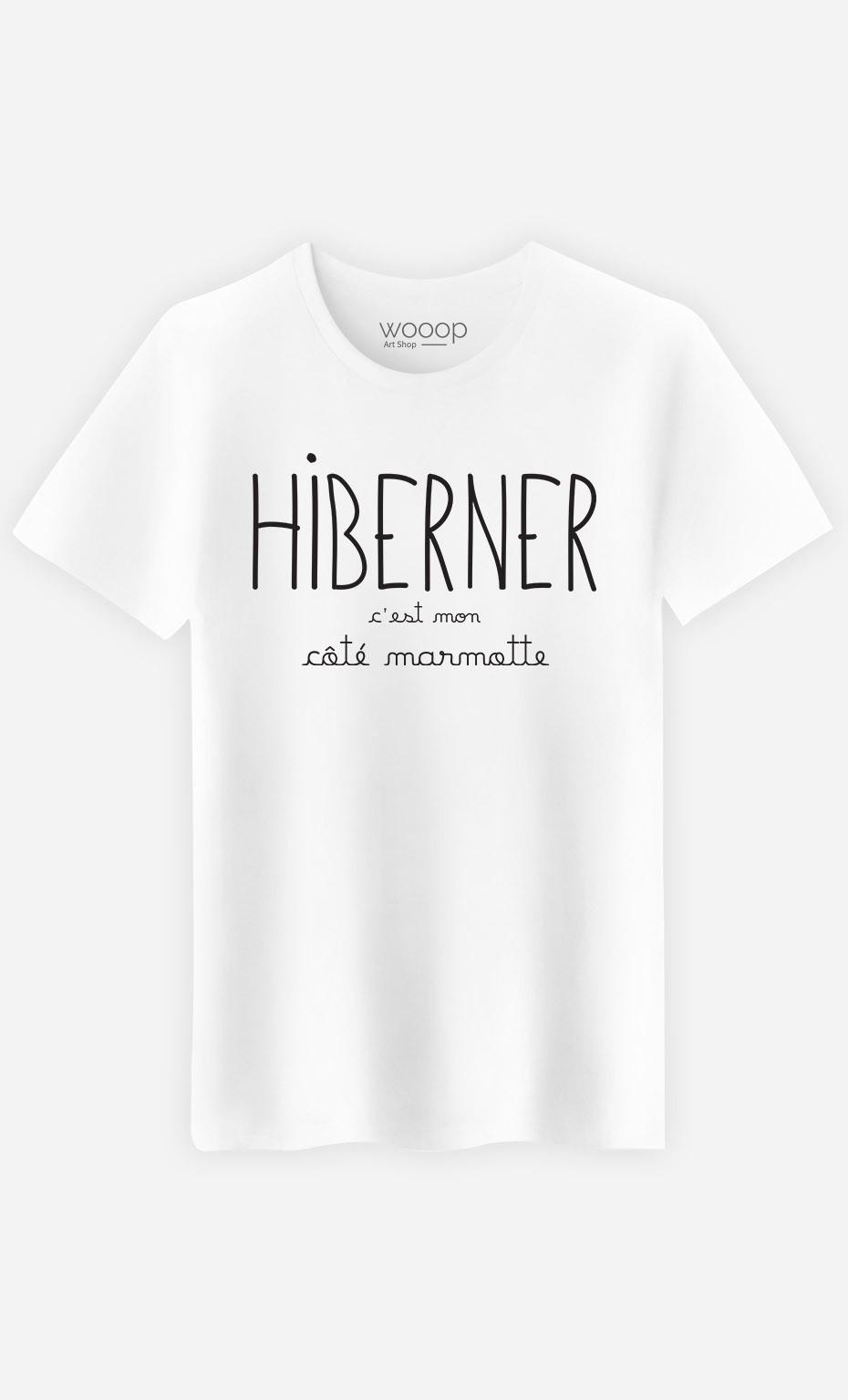 T-Shirt Hiberner c'est mon Côté Marmotte