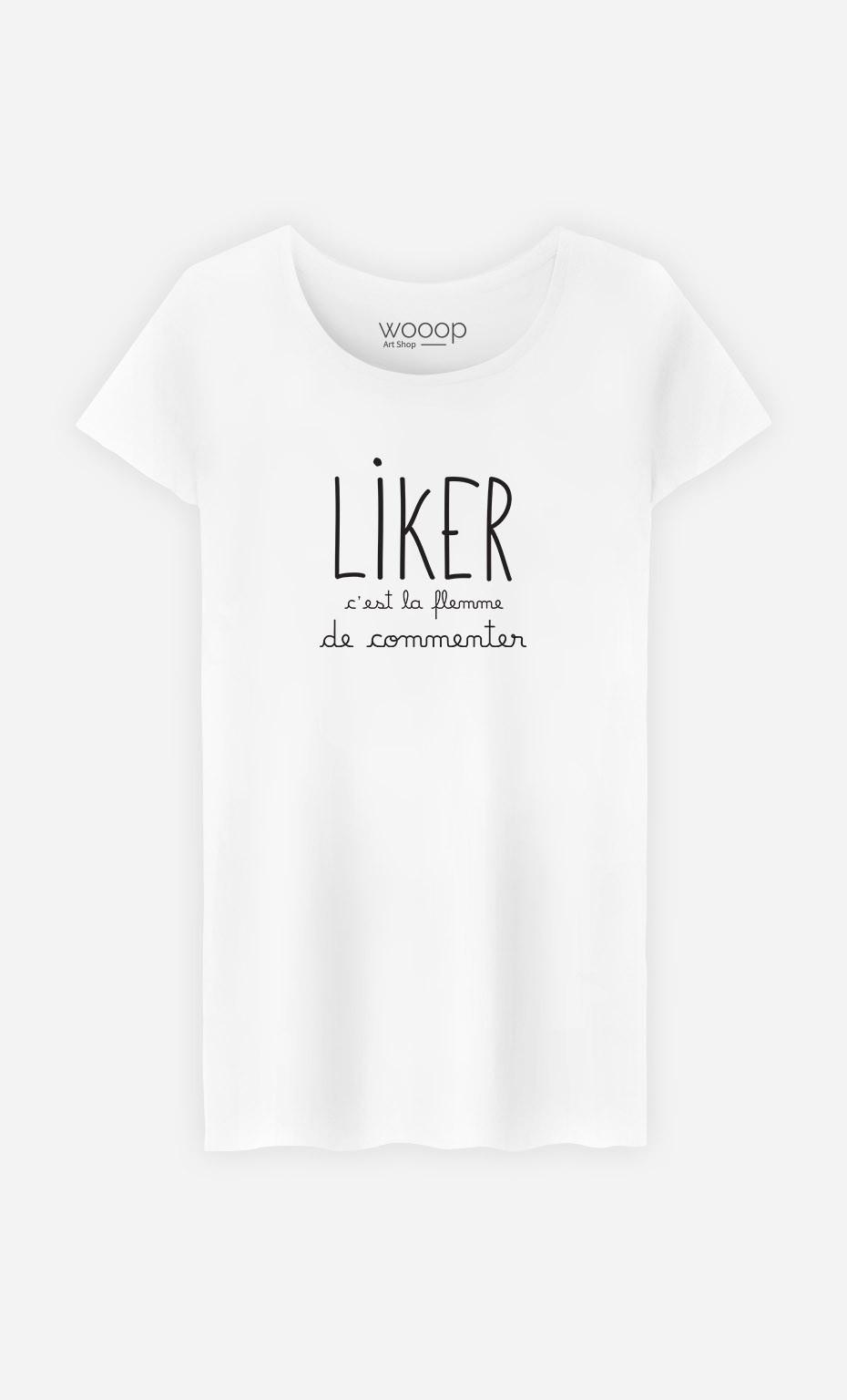 T-Shirt Liker c'est la Flemme de Commenter