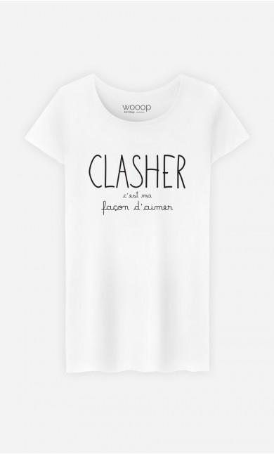 T-Shirt Femme Clasher c'est ma Façon d'Aimer