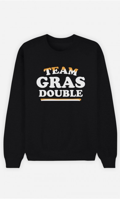 Sweat Noir Team Gras Double