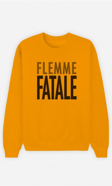 Sweat Moutarde Flemme Fatale