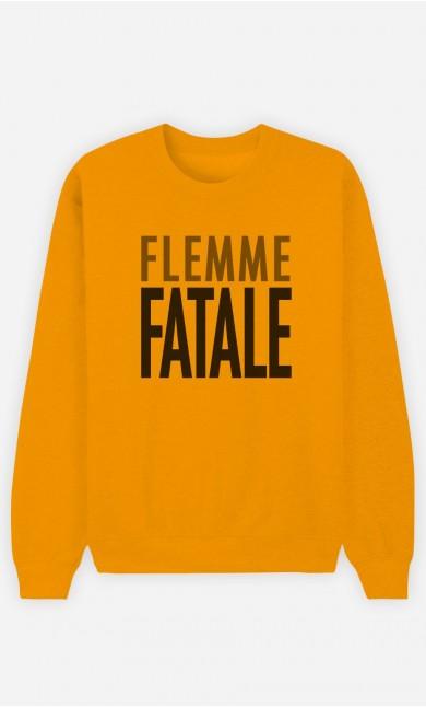 Sweat Moutarde Flemme Fatale
