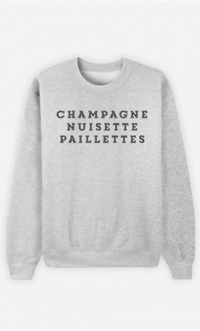 Sweat Femme Champagne Nuisette Paillettes