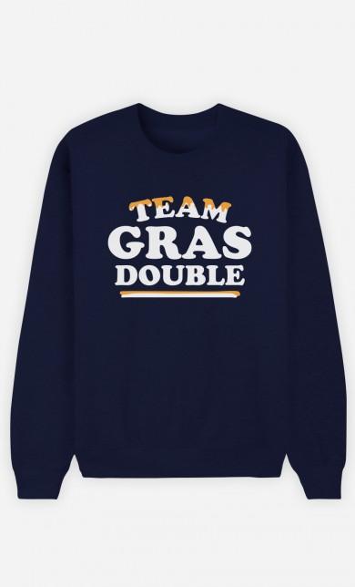 Sweat Bleu Team Gras Double