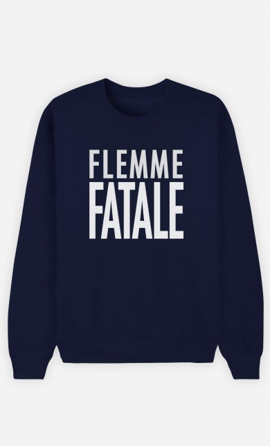 Sweat Bleu Flemme Fatale
