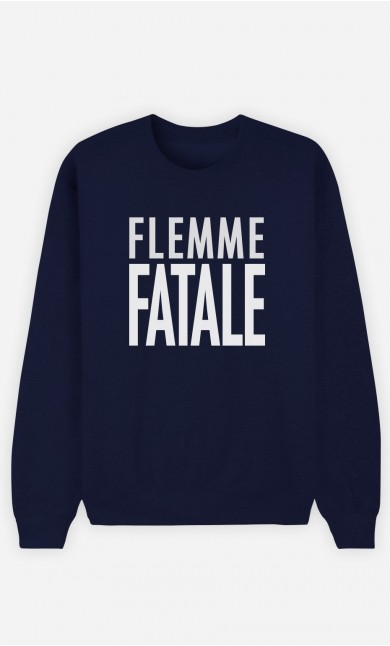 Sweat Bleu Flemme Fatale