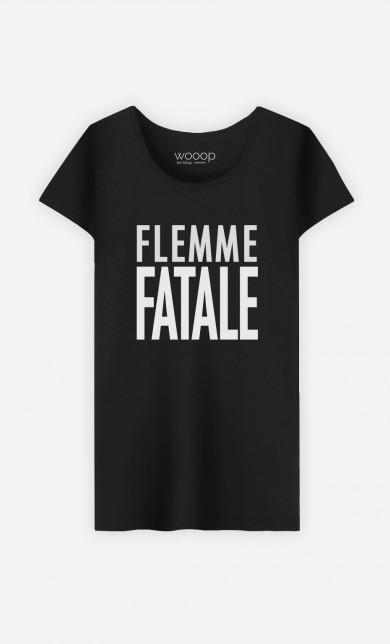T-Shirt Noir Flemme Fatale