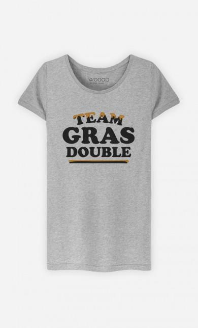 T-Shirt Gris Team Gras Double