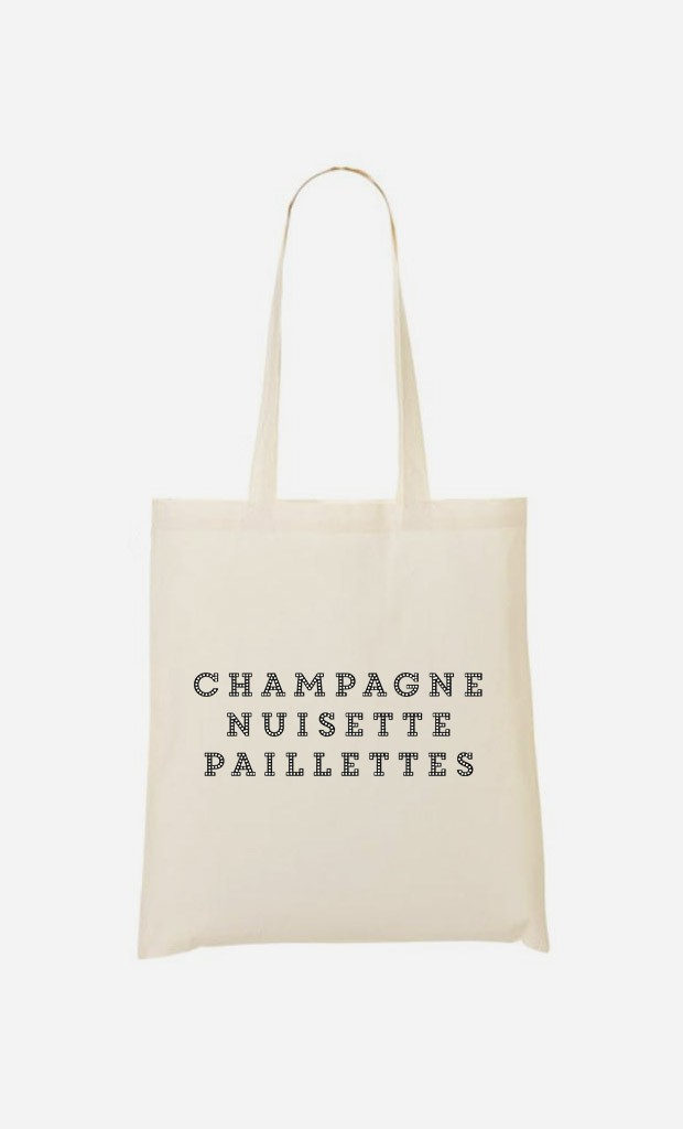 Tote Bag Champagne Nuisette Paillettes