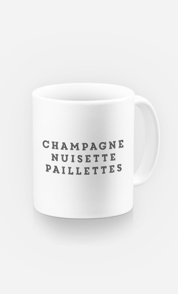 Mug Champagne Nuisette Paillettes