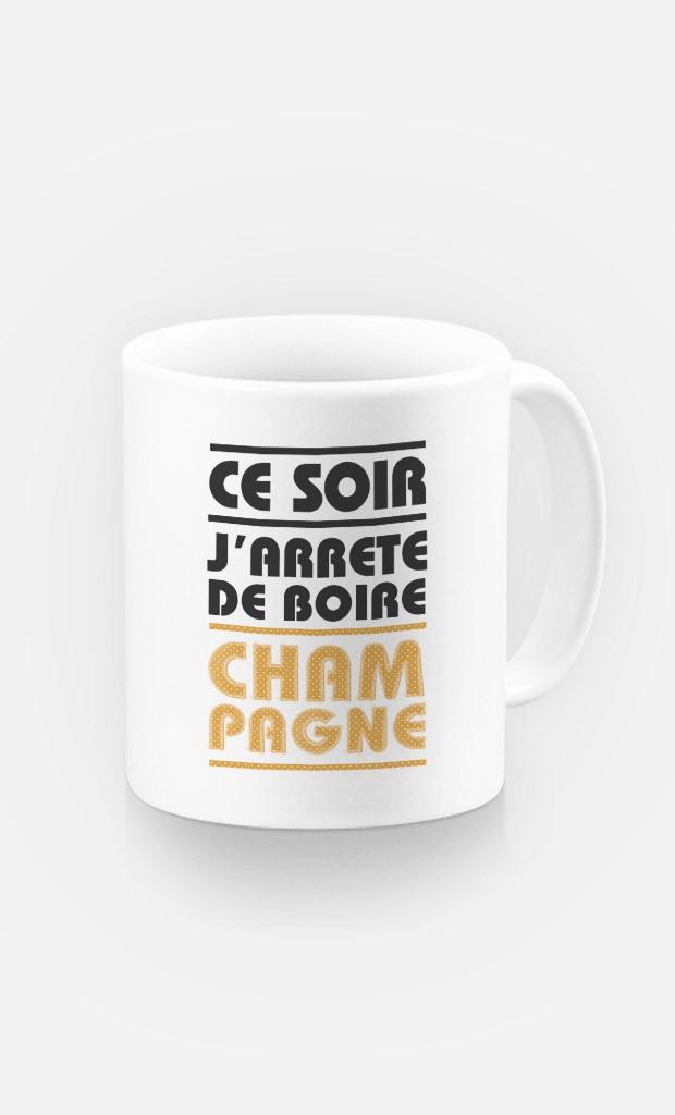 Mug J'arrête de Boire Champagne