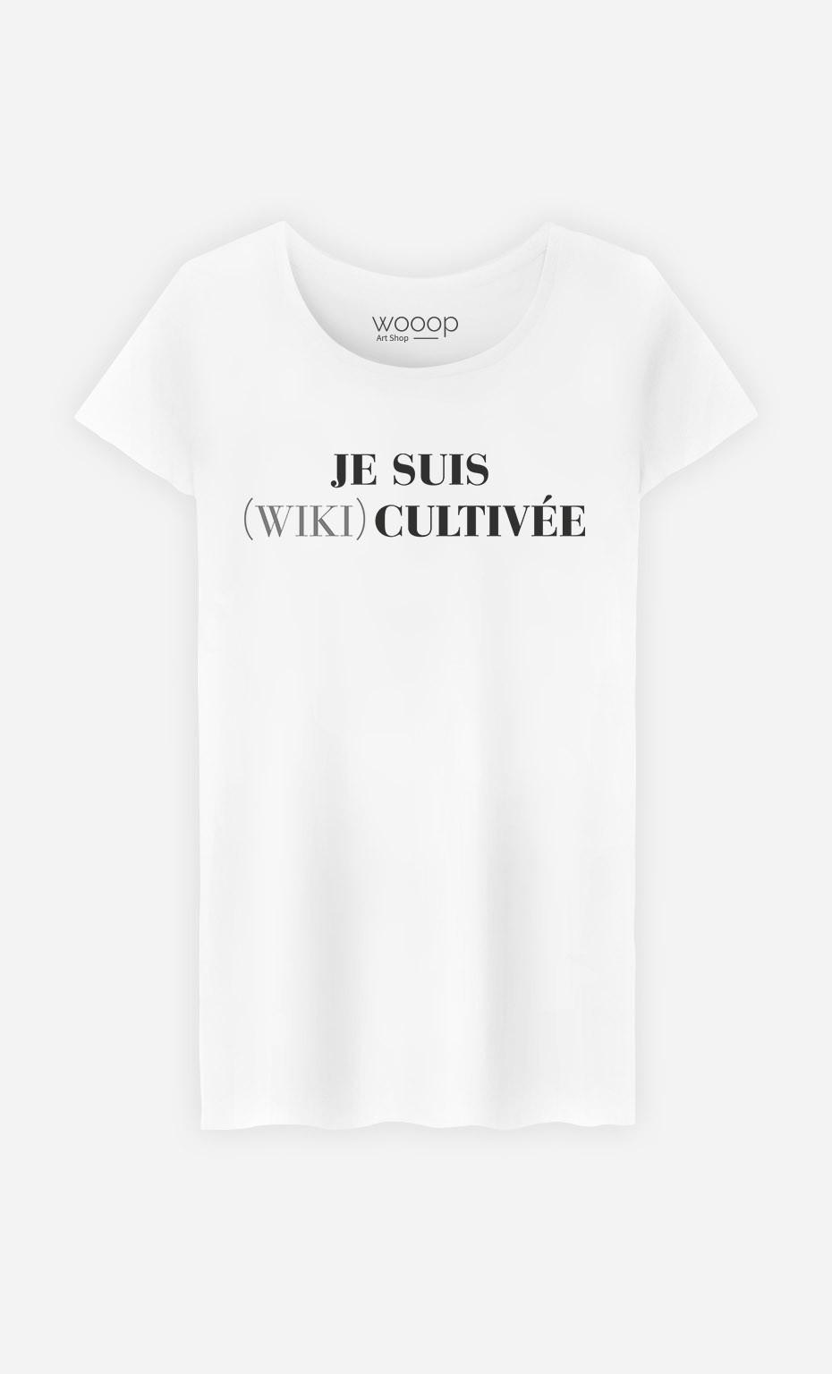 T-Shirt Femme Je Suis Wiki Cultivée