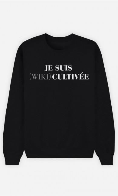Sweat Femme Je Suis Wiki Cultivée