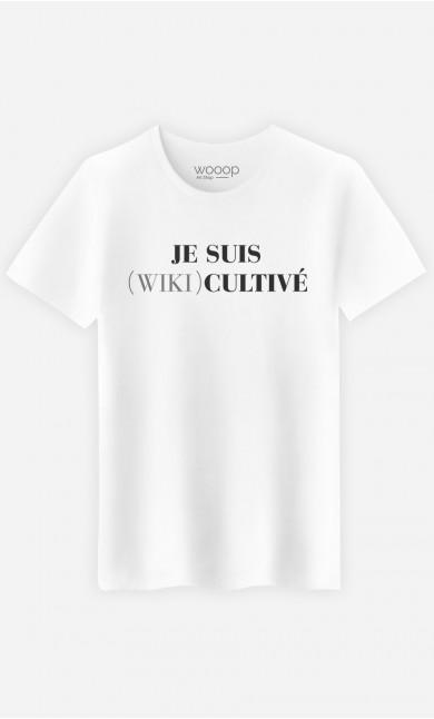 T-Shirt Homme Je Suis Wiki Cultivé