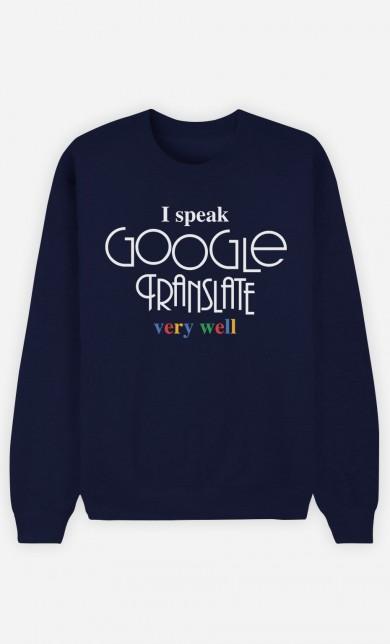 Sweat Bleu I Speak Google Translate