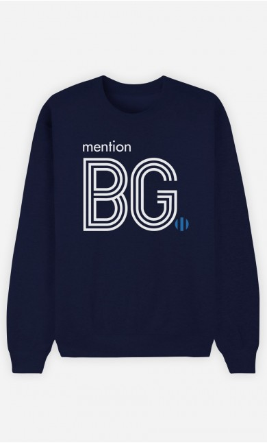Sweat Bleu Mention Beau Gosse