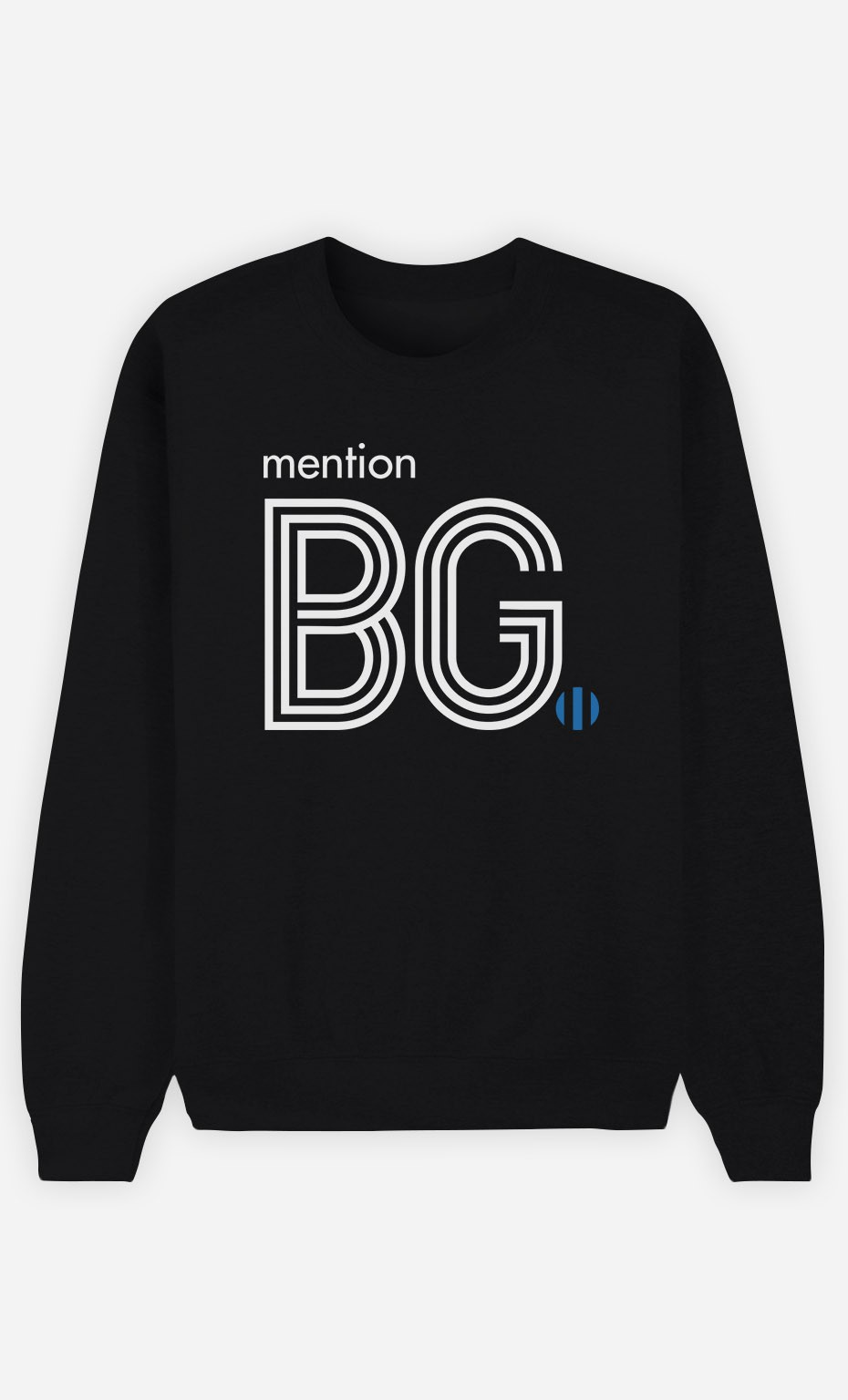 Sweat Noir Mention Beau Gosse