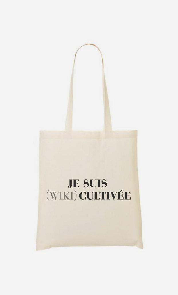 Tote Bag Je Suis Wiki Cultivée