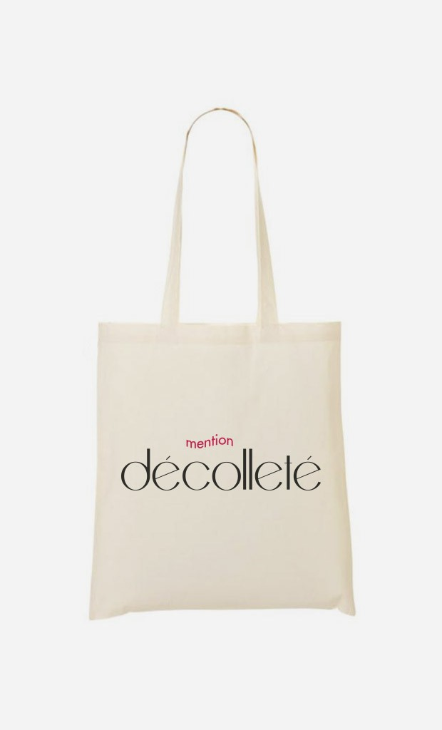 Tote Bag Mention Décolleté