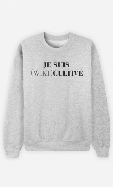 Sweat Homme Je Suis Wiki Cultivé