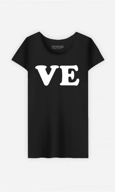 T-Shirt Femme Love Ve