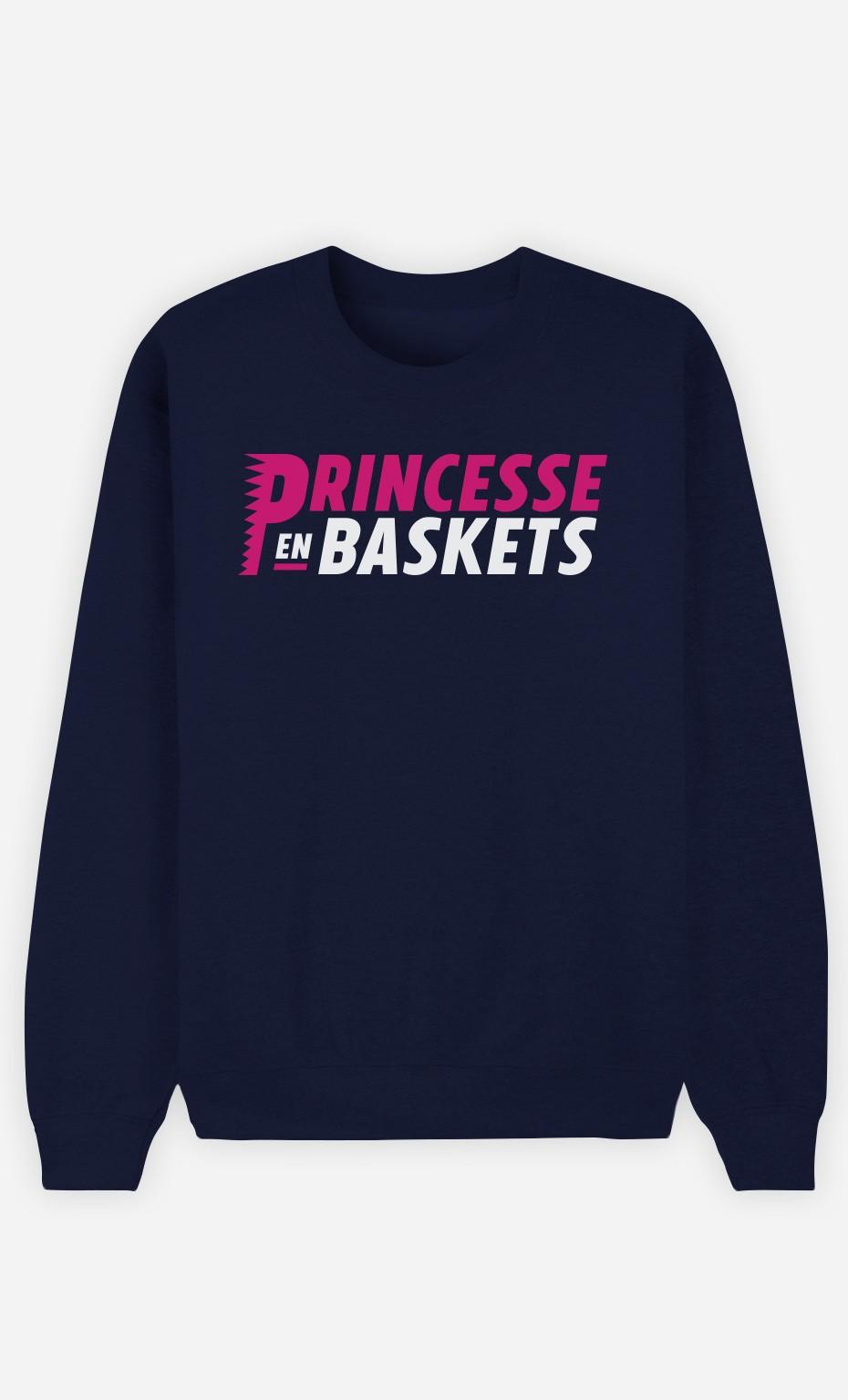 Sweat Bleu Princesse en Baskets