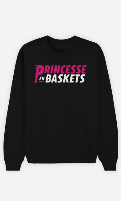 Sweat Noir Princesse en Baskets