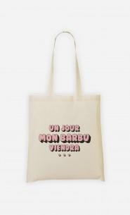 Tote Bag Un Jour mon Barbu Viendra