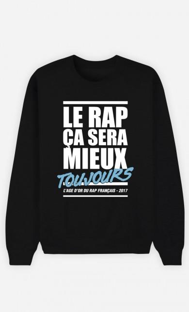 Sweat Noir Le Rap ça Sera Mieux - Bleu