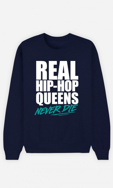 Sweat Bleu Real Hip Hop Queens - Vert
