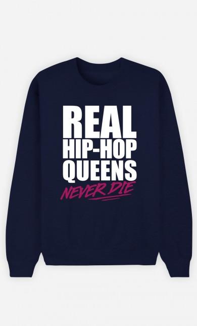 Sweat Bleu Real Hip Hop Queens - Rose