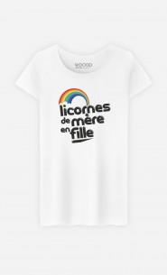 T-Shirt Femme Licornes de Mère en Fille