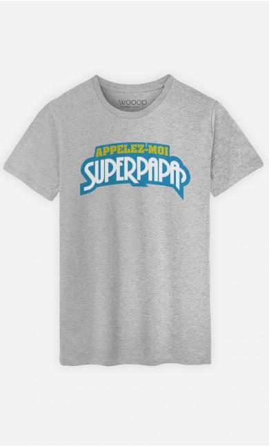 T-Shirt Homme Appelez-Moi SuperPapa