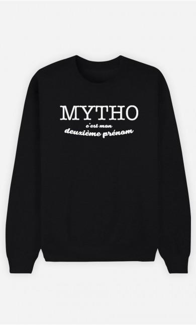 Sweat Noir Mytho c'est mon deuxième prénom