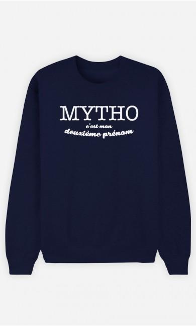 Sweat Bleu Mytho c'est mon deuxième prénom