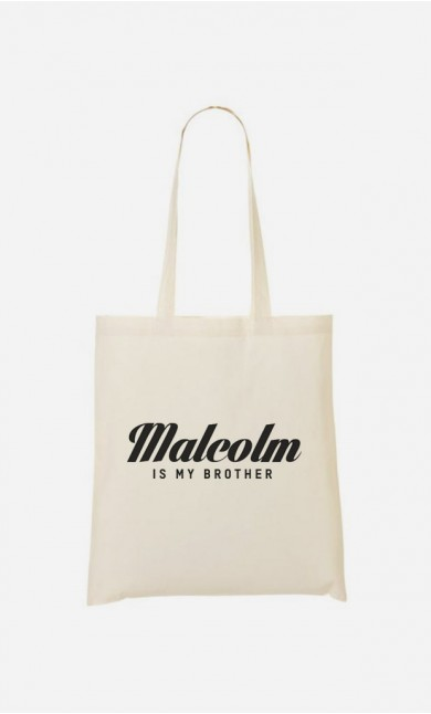 Tote Bag Malcolm is my brother