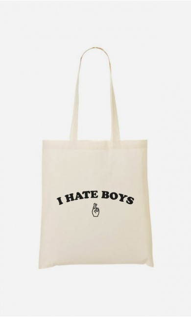 Tote Bag I hate boys