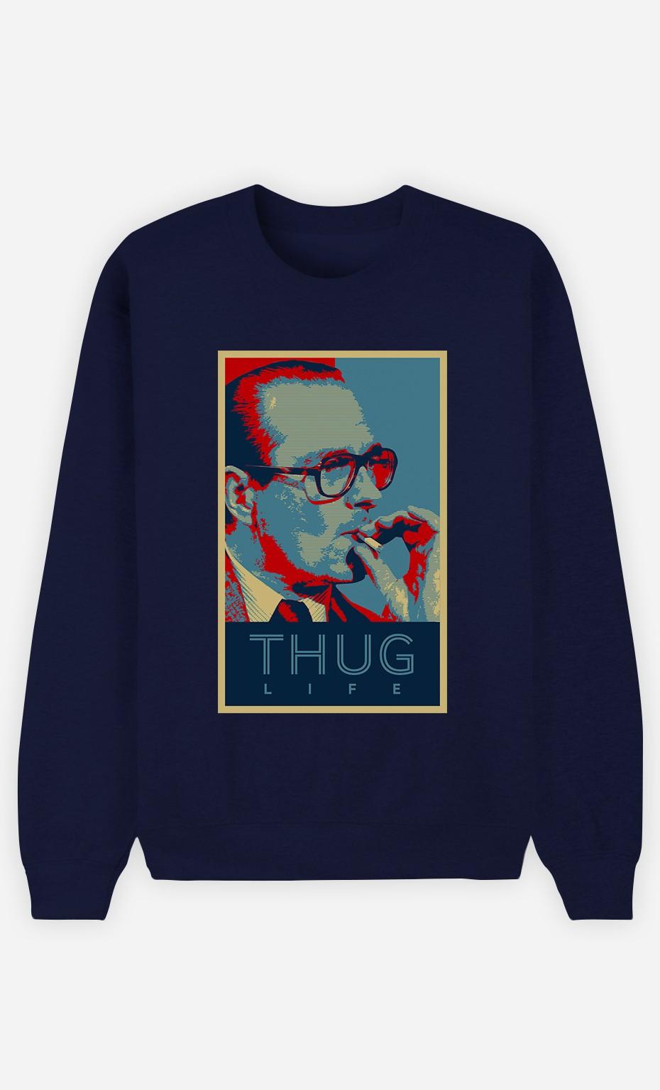 Sweat Bleu Chirac Thug Life