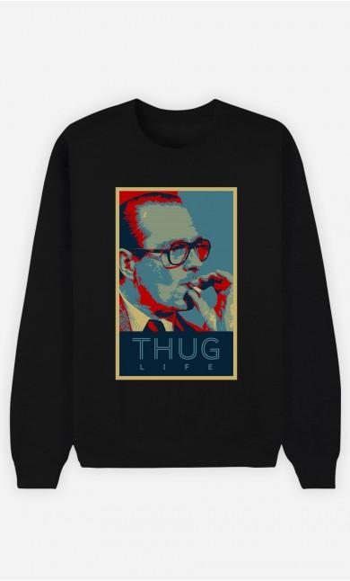 Sweat Noir Chirac Thug Life