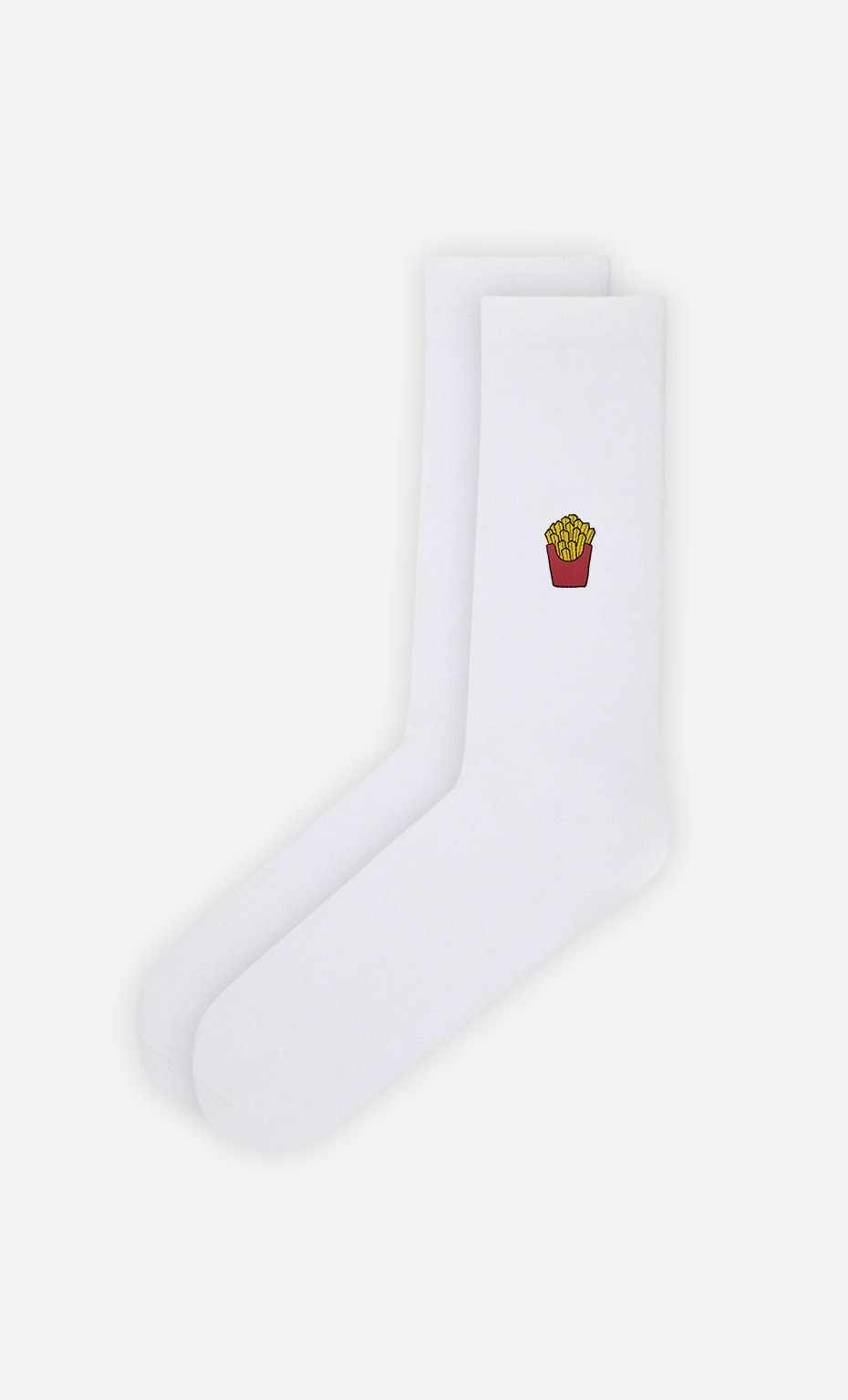 Chaussettes Blanches French Fries