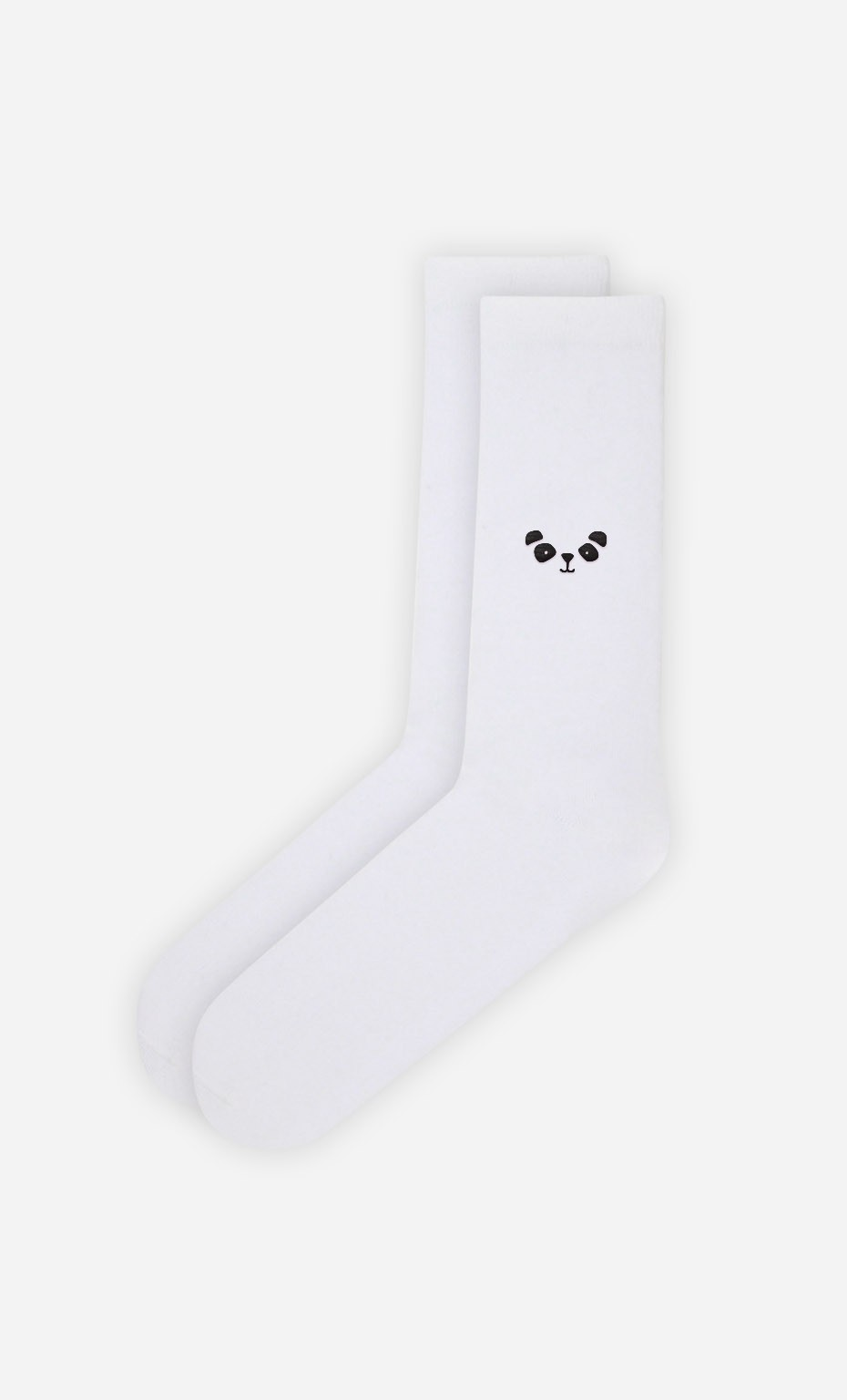 Chaussettes Blanches Panda