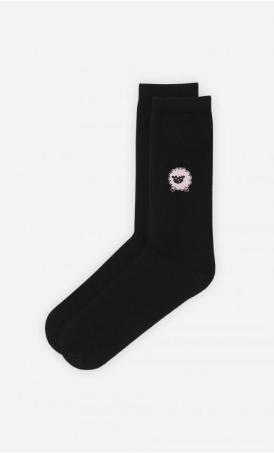 Chaussettes Noires Mouton
