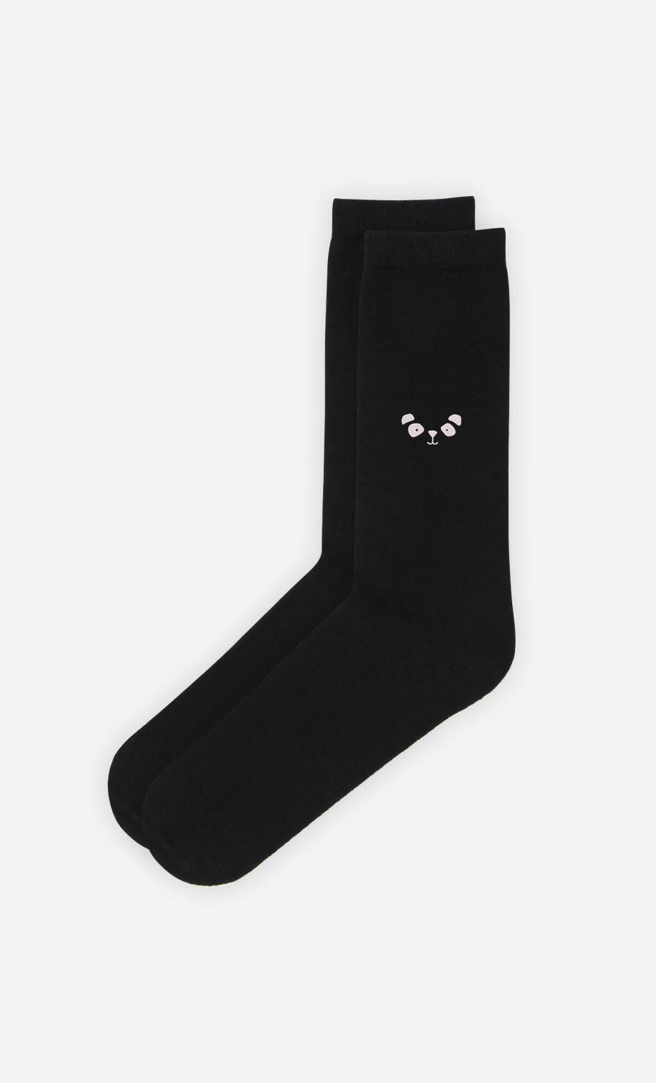 Chaussettes Noires Panda