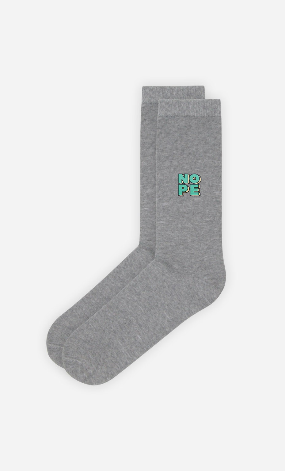 Chaussettes Grises Nope Green