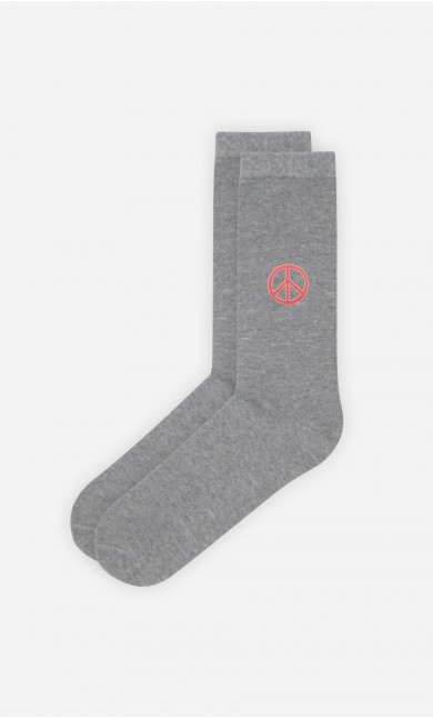 Chaussettes Grises Peace and love